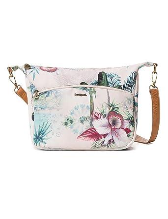 ab93ccc338 Desigual Bag Soft Tropi Balcad Women, Sacs bandoulière femme, Blanc  (Bleached Sand)