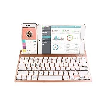 PinPle Teclado Bluetooth Inalámbrico Multifuncional Silm Teclado - SupportiOS/Android/Windows - para iPhone