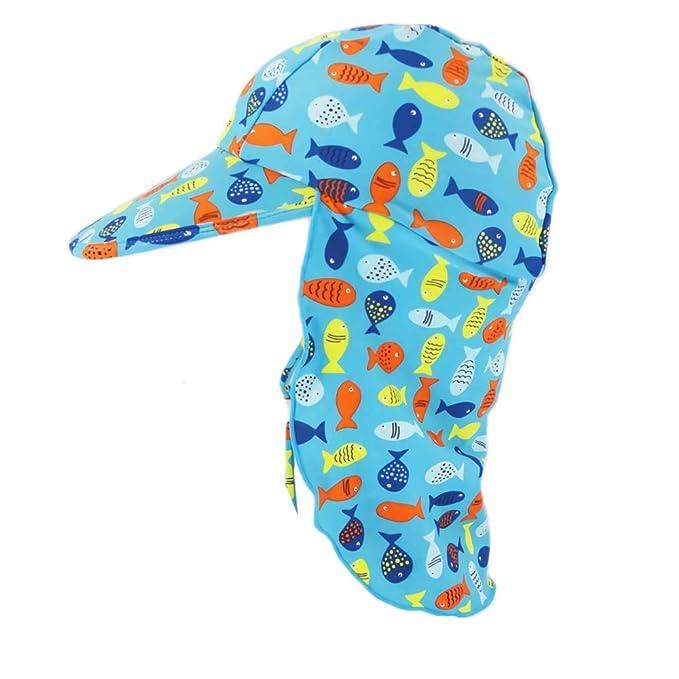 Niños Verano Sombrero para el sol, Protección solar UPF 50+ ...