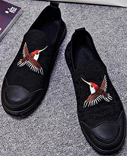 Satuki Canvas Schoenen Voor Heren, Instappers Schoenen, Casual Pull Op Zachte Atletische Lichtgewicht Platte Mode Sneakers B
