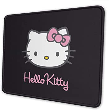 Cute Cat JSjiasen Gaming Mouse Pad Custom,Mouse Mat with Stitched Edge,Round Mousepad with Non-Slip Rubber Base,Mouse Pads for Computers Laptop