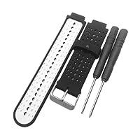 MagiDeal Fascia Da Polso Intelligente Ricambio Sostituzione Cinturino Smart Watch Gomma Silicone - Nero Bianco