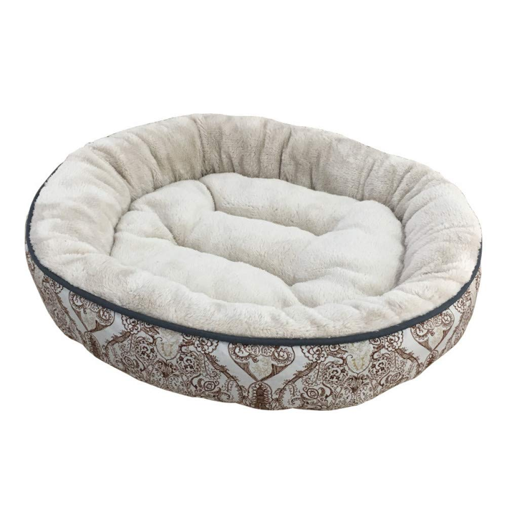 C10 60X60X13CM CZHCFF Round pet bed suitable for small dogs, soft velvet puppies, mats for kennels, thickening of the house, warm dog mats, comfortable nests S, meters, L