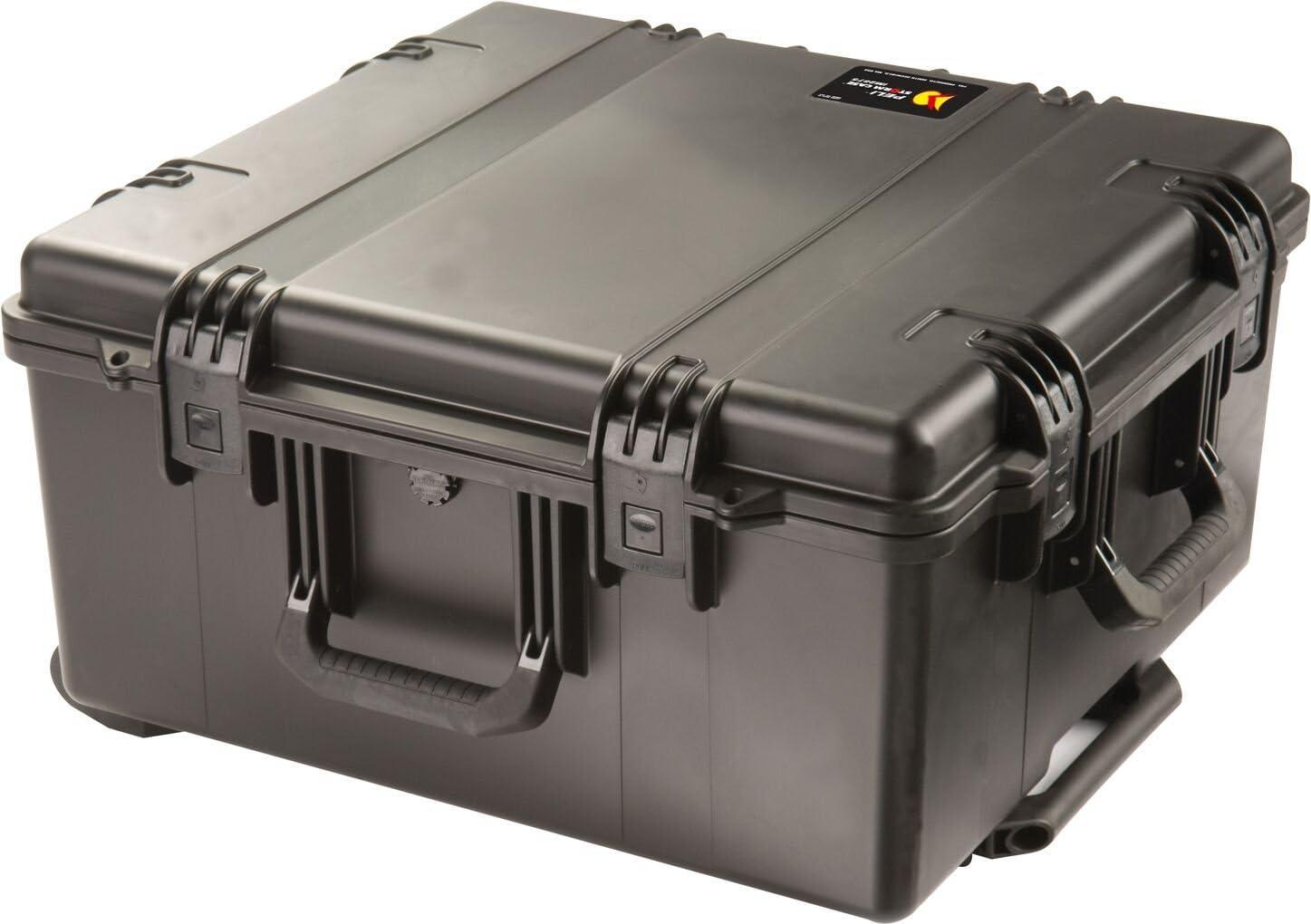 PELI Storm IM2875 Maleta Trolley Resistente al Agua y los Impactos para cámaras y Drones, Resistente al Agua y al Polvo, 89L de Capacidad, Fabricada en EE.UU, con Espuma Personalizable, Color Negro