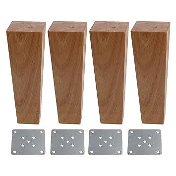 BQLZR - Patas de repuesto para sofás o mesas, 4 x 6 x 18 cm ...