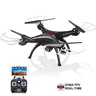 Syma X5SW 2.4G 6-Axis FPV RC Quadcopter drone helicóptero sin cabeza Con HD Wifi de la cámara IOS Android sincronización en tiempo real de vídeo Negro
