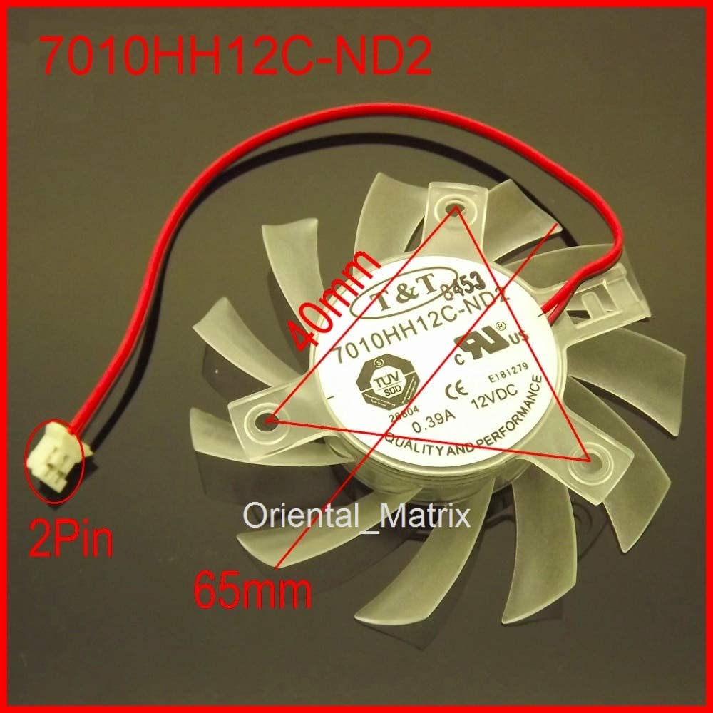 Rarido 7010HH12C ND2 65mm 404040mm 12V 0.39A for DATALAND Graphics Card VGA Cooler Cooling Fan 2Wire 2Pin