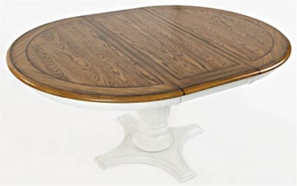 Jofran 1776 66TBKT Castle Hill Round To Oval Dining Table 48quot W X