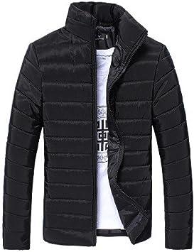 Warm OutwearMSchwarz Herbst Jacke Männer Herren Btruely Mantel Winter Slim Zipper xQdBWoeErC
