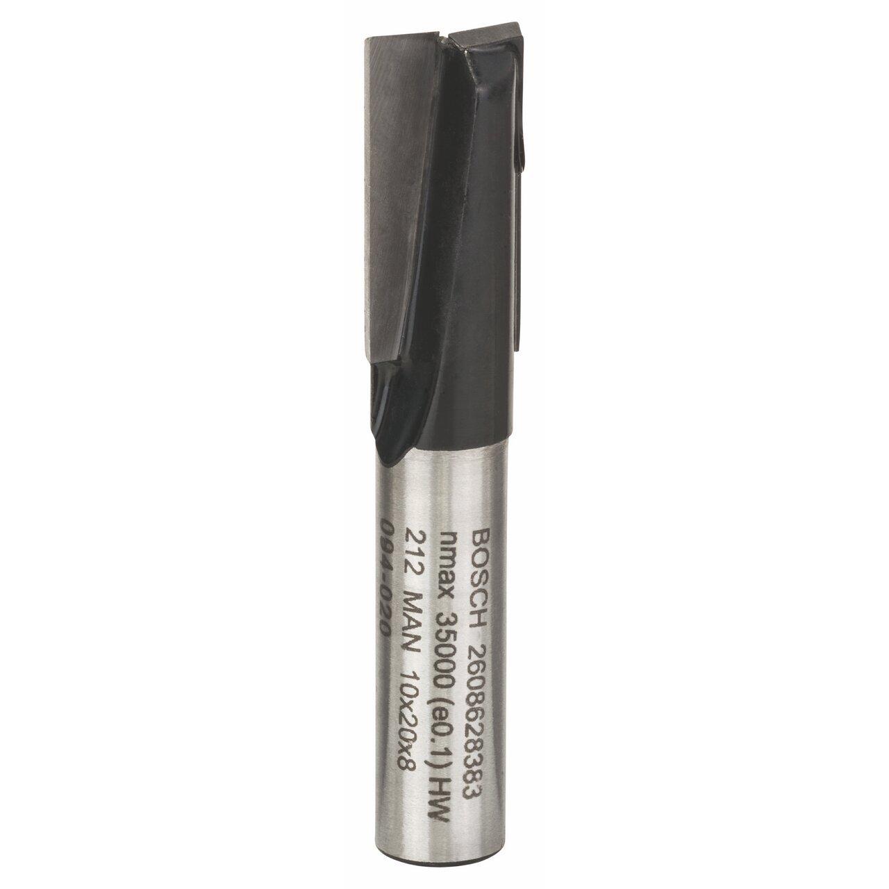 Bosch 2 608 628 383 - Fresas de ranurar - 8 mm, D1 10 mm, L 20 mm, G 51 mm (pack de 1) 2608628383