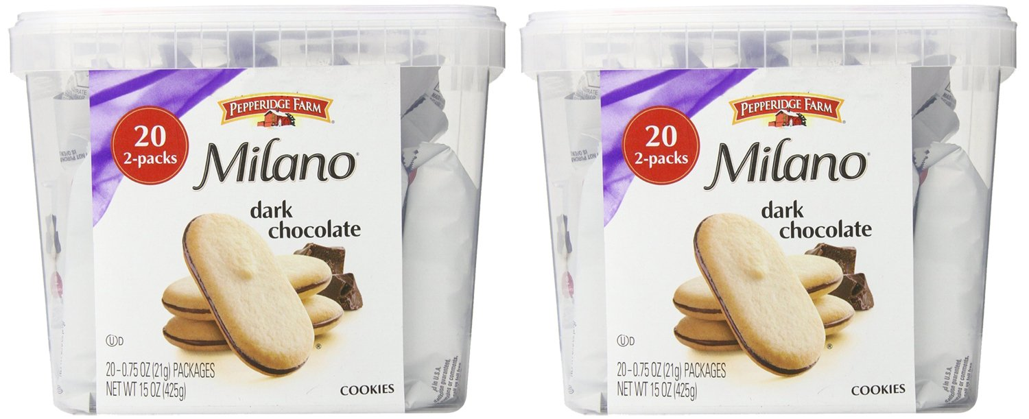 Pepperidge Farm Milano Double Chocolate Cookies, 2Pack of 15 Ounce