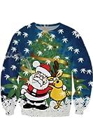 Pink Wind Women's Santas Snowflake Reindeer Print Christmas Sweatshirt Sweater