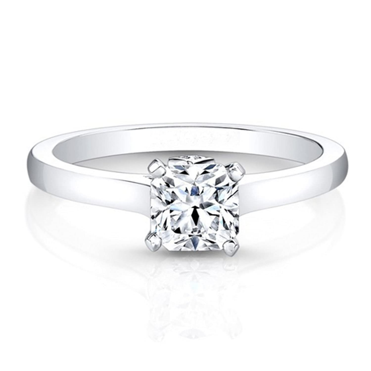 Amazon Com 0 60 Ct Diamond Solitaire Engagement Rings 14k White