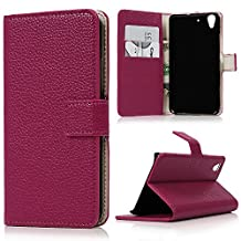 Huawei Y6 Scale Wallet Case - Mavis's Diary High Quality PU Leather Wallet Case with Magnetic Clasp Credit Card Holders Flip Folio Cover Stand Case For Huawei Y6 Scale (Deep Pink)