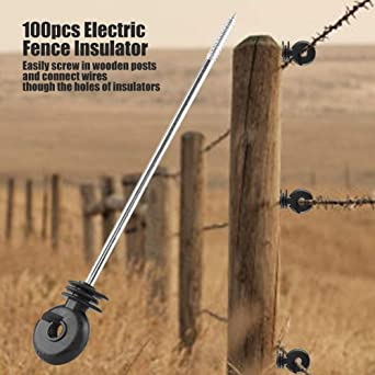 Amazoncom Electric Fence Screw In Insulator Meadow Fence Ring Post