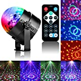SKONYON Party Lights Sound Activated Party Lights with Remote Control Dj Lighting, RBG Disco Ball Strobe Led Lamp 7 Modes Stage Par Light for Christmas Parties DJ Karaoke Wedding Outdoor