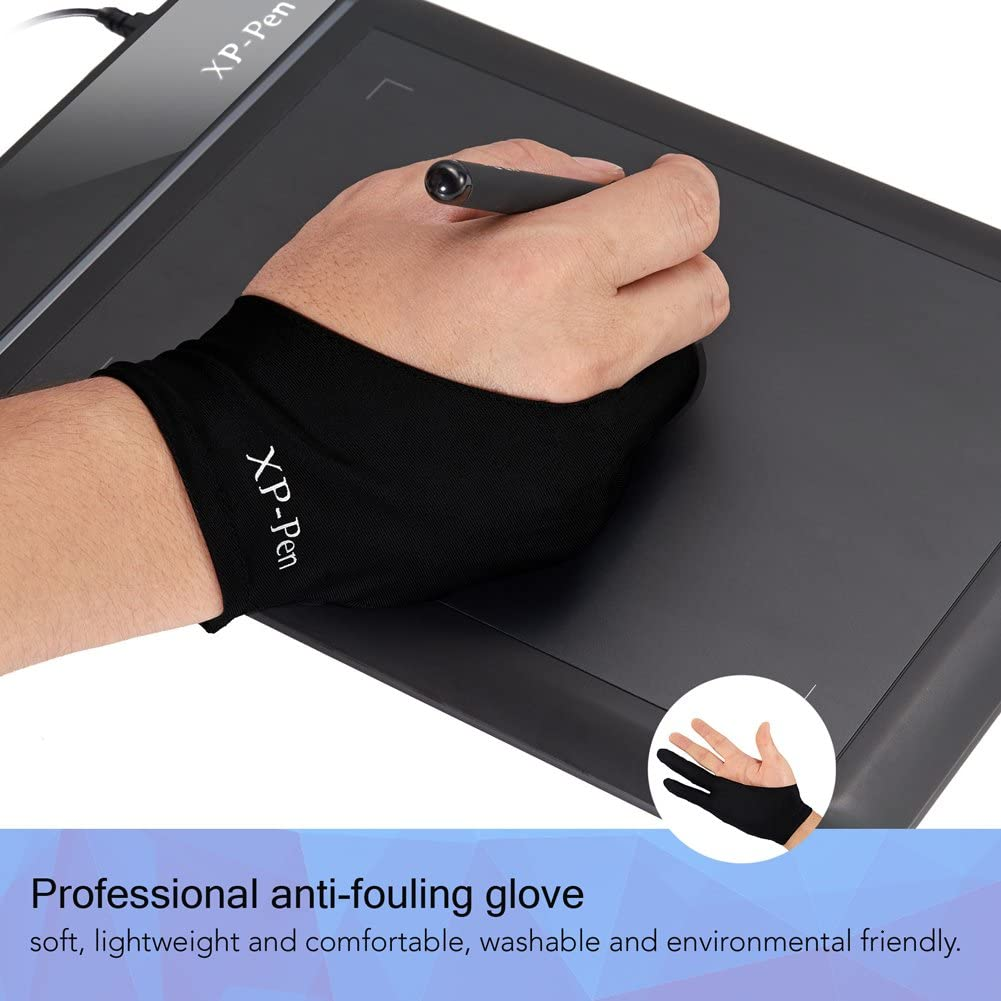 XP-Pen Professional Artist Lycra Glove for Graphics Drawing Tablet Graphic Monitor Suitable for Right Hand and Left Hand Free Size