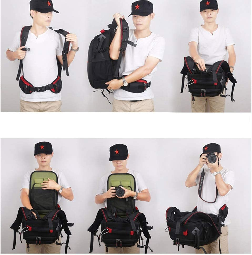 WUZHENG Camera Laptop Backpack for Outdoor Travel Hiking Fit 2 DSLR//SLR 3 Lenses Women and Man