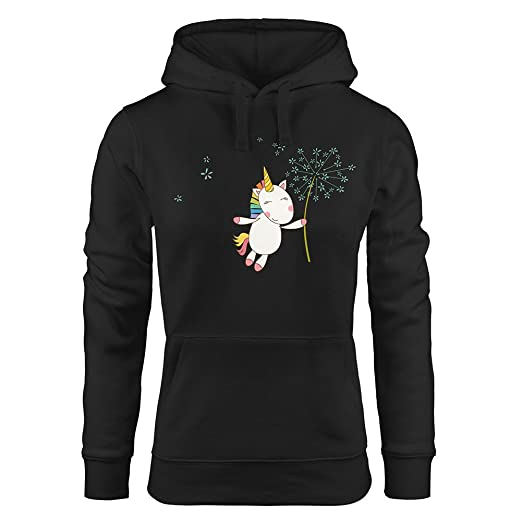 Kuiduo Women Clothing Unicorn and Dandelion Cute Cartoon Printing Womens Black Hoodies Fashion Hoodies at Amazon Womens Clothing store:
