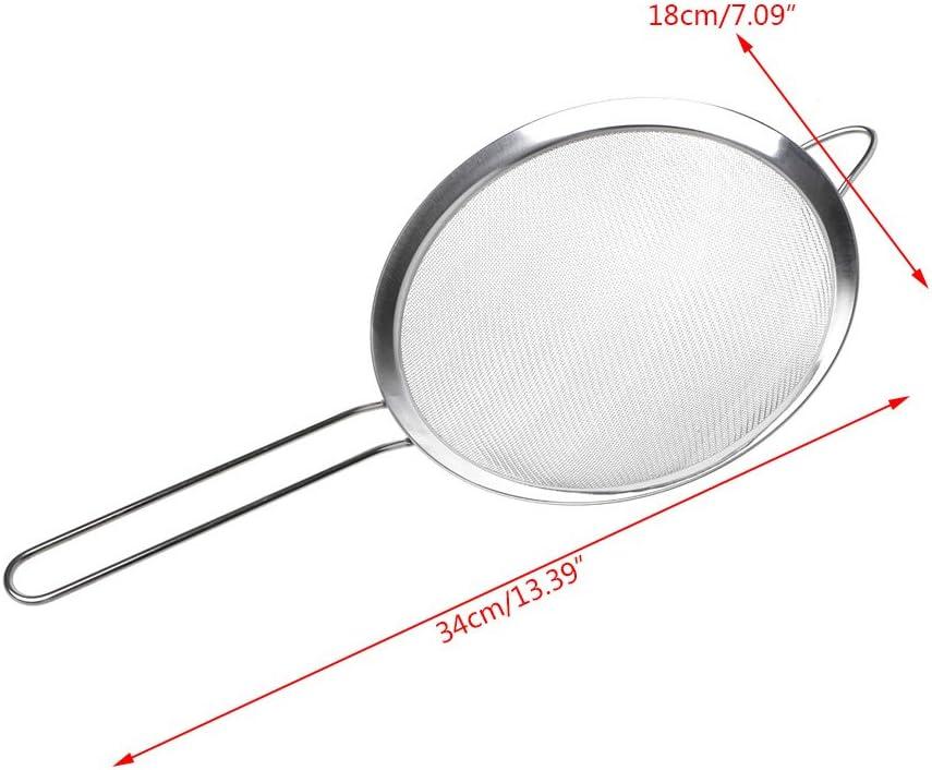 8 cm Mehlfilter Edelstahlgeflecht Kochzubeh/ör A0127 Mehlsieb rostfrei Edelstahl Silber K/üchensieb