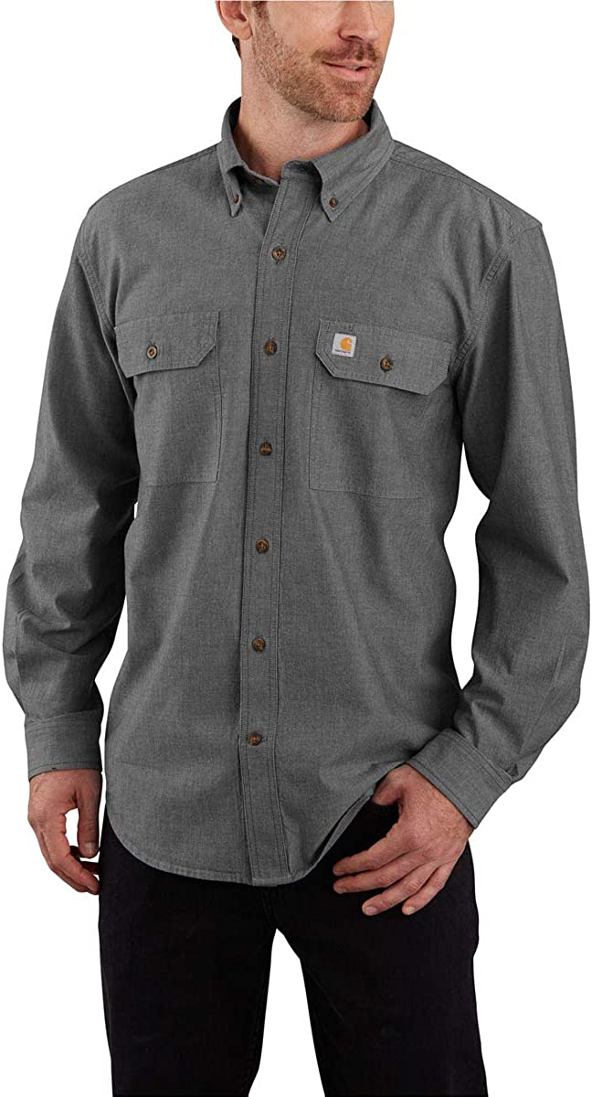 Carhartt Men's Original Fit Long Sleeve Shirt: Clothing