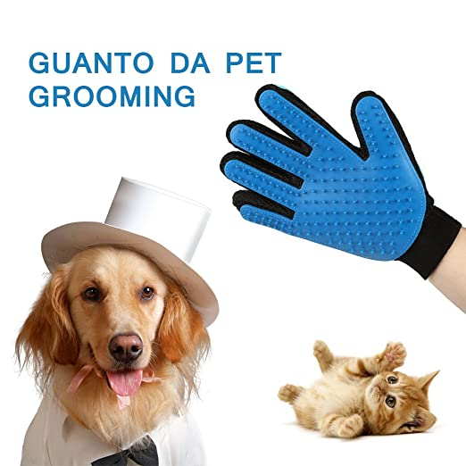 34 opinioni per Hepooya Animale Massaggio Handy Pet Brush Glove True Soft Touch e Efficienti per