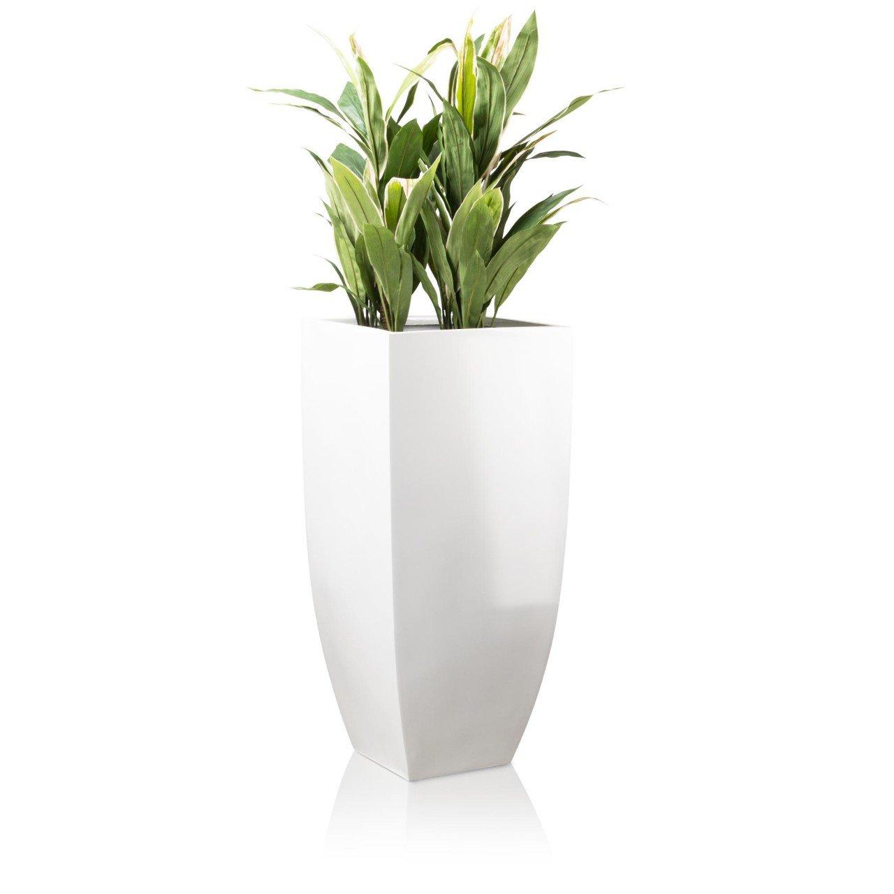 blumenk bel tarro alto fiberglas wei hochglanz decoras pflanzk bel g nstig kaufen. Black Bedroom Furniture Sets. Home Design Ideas