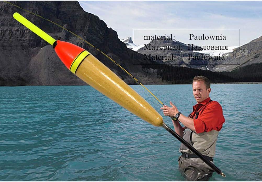 LIOOBO 10 UNIDS Sic/ómoro Flotadores De Madera De Madera Y Boya Negrita para La Pesca De Roca Pesca De Mar Reservorio De Pesca De Pesca De Agua Profunda Uso