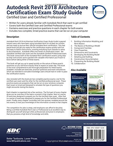 Autodesk Revit 2018 Architecture Certification Exam Study Guide ...