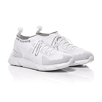 ed2add5002e718 Christian Dior Dior Homme White Technical Knit B21 Low-Top Sneaker ...