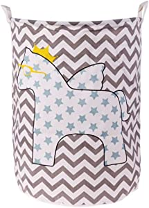 yqs Storage Box Dirty Hamper Hamper Simple Cotton Linen Storage Basket Waterproof Dirty Clothes Baby Toys Organizer Bag with Hanging Folding Laundry Basket,2