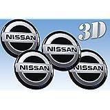 ホイールステッカー日産模造全サイズセンターキャップロゴバッジホイールトリム3D 50mm, Nissan