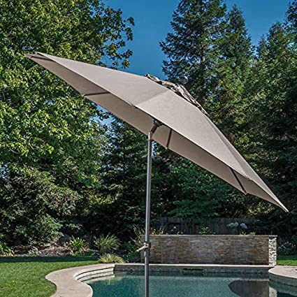 52cd2f5800a0f Image Unavailable. Image not available for. Color: 10' Auto Tilt Aluminum  Umbrella ...