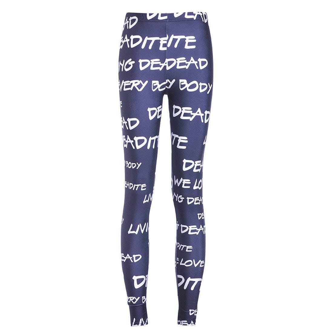 Targogo Pantalons De Jogging pour Femmes Leggings De Imprimés Ocasional  Pantalons Yoga Pantalons De Training Taille ... 584794808b8