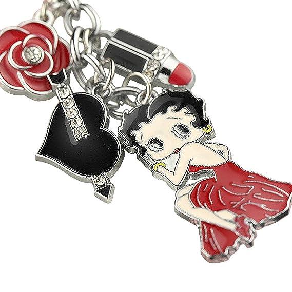 Amazon.com: Nuevo lindo rojo Betty Boop corazón negro lápiz ...