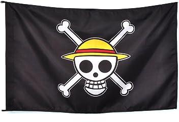 CoolChange bandera con símbolo de Jolly Rogers del equipaje Sombreros de  Paja de One Piece 01e39e108a1