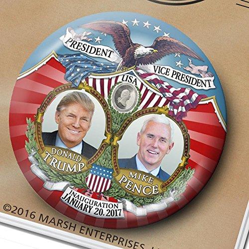 (Donald Trump Pence Victory Button - 3 inch Inauguration Pin - Marsh Enterprises)
