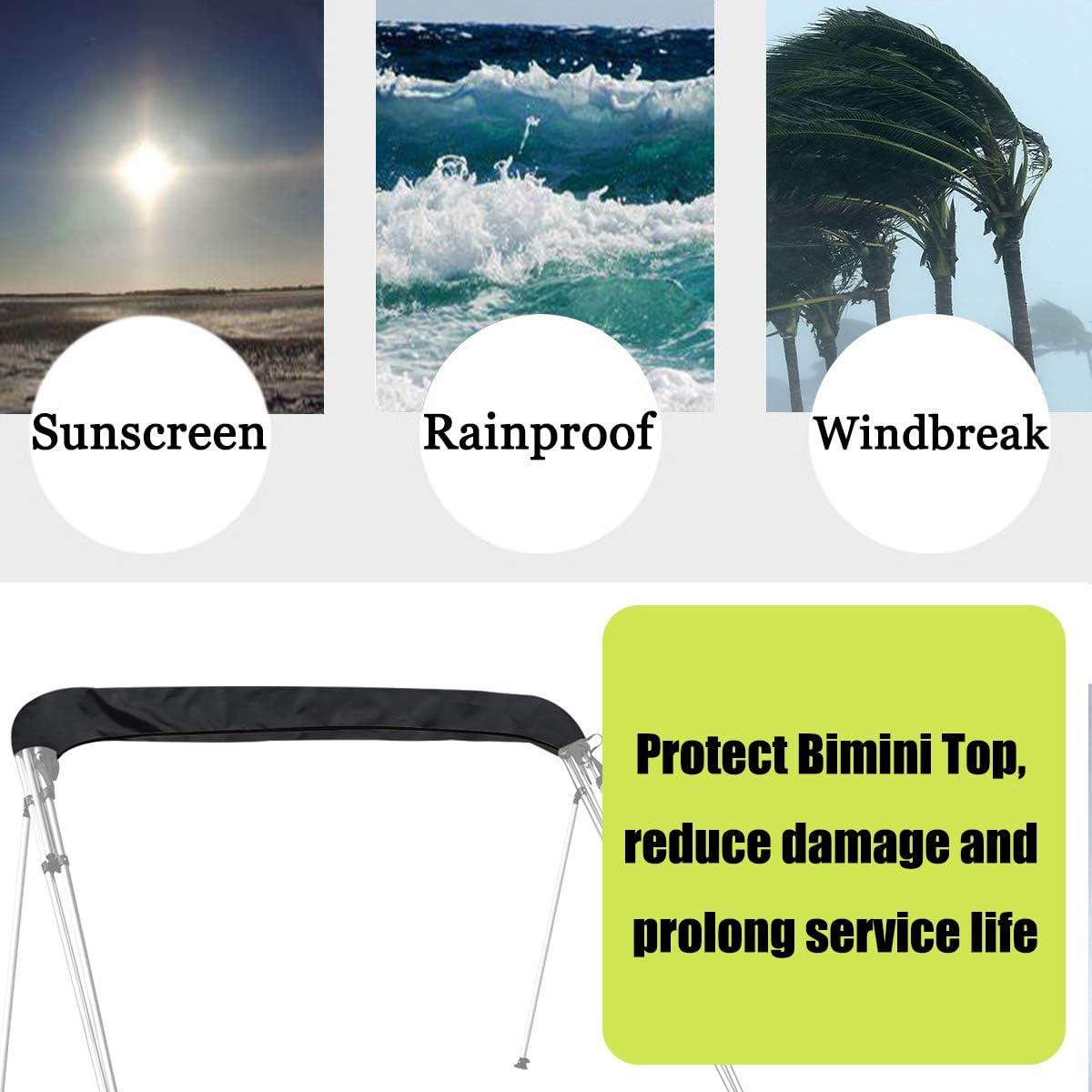sea Water and sea Breeze in Summer,Storage Boot SoGuDio Bimini Top Cover,Suitable for 3-4 Bows Bimini Tops,Effectively Prevent The Erosion of UV