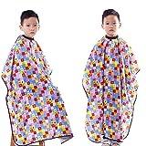 Professional Salon Client Gown Robes Cape Colorful Lattice Print Salon Cape for Kids