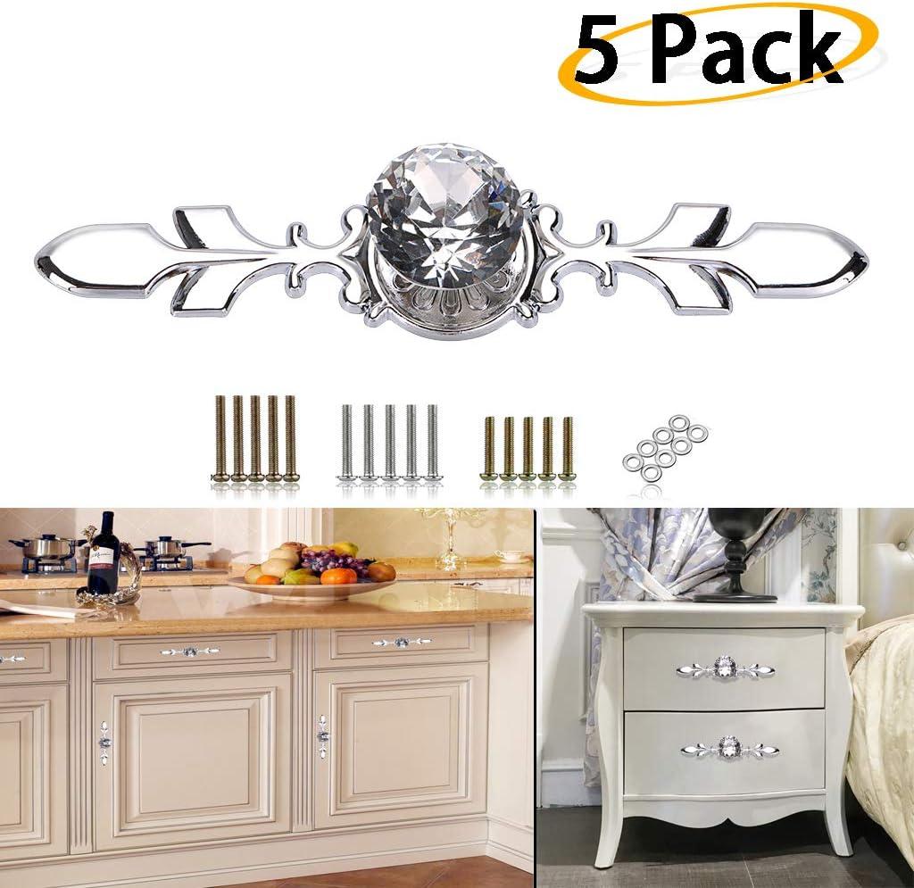 puerta habitaci/ón infantil caj/ón dise/ño de calavera KST03317W Juego de 6 tiradores para muebles hogar ba/ño cocina c/ómoda para armario