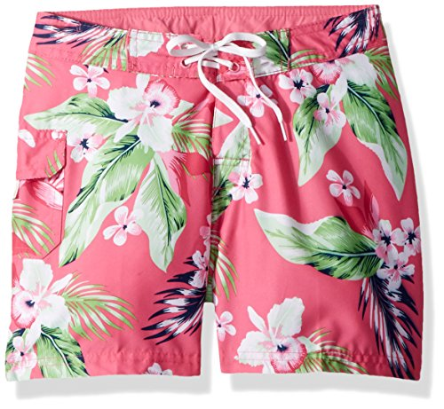 Girls Swimwear Boardshorts - Kanu Surf Girls' Big Alania UPF 50+ Quick Dry Beach Coverup Boardshort, Pink, X-Large (14/16)