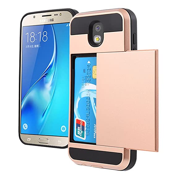 detailing a9c45 ccfa2 Amazon.com: Galaxy J5 Pro Case, Wallet Design and Card Slot Holder ...