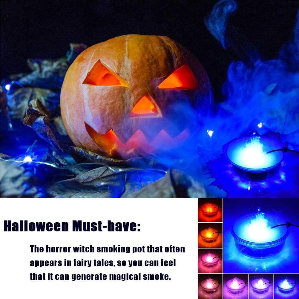 Halloween Fog Machine Disinfection LED Smoke Machine for Weddings Parties or Environmental Disinfection Fog Machine with Controllable Lights