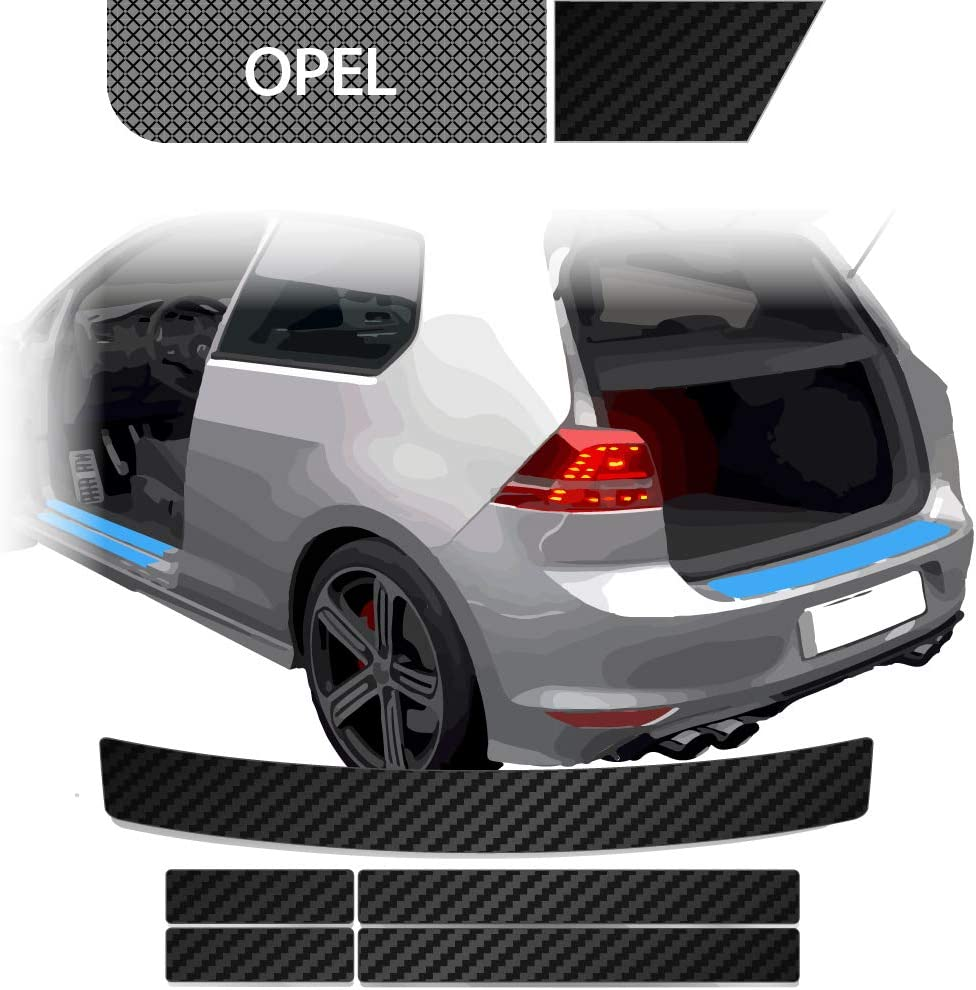 Blackshell Ladekantenschutz Einstiegsleisten Set Inkl Premium Rakel Für Zafira Tourer C 2011 2016 Carbon Matt Passgenaue Lackschutzfolie Auto Schutzfolie Auto