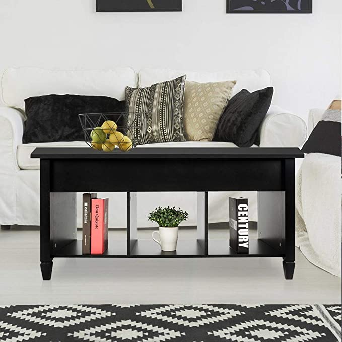 Amazon.com: Mesa superior de café, mesa final de madera y ...