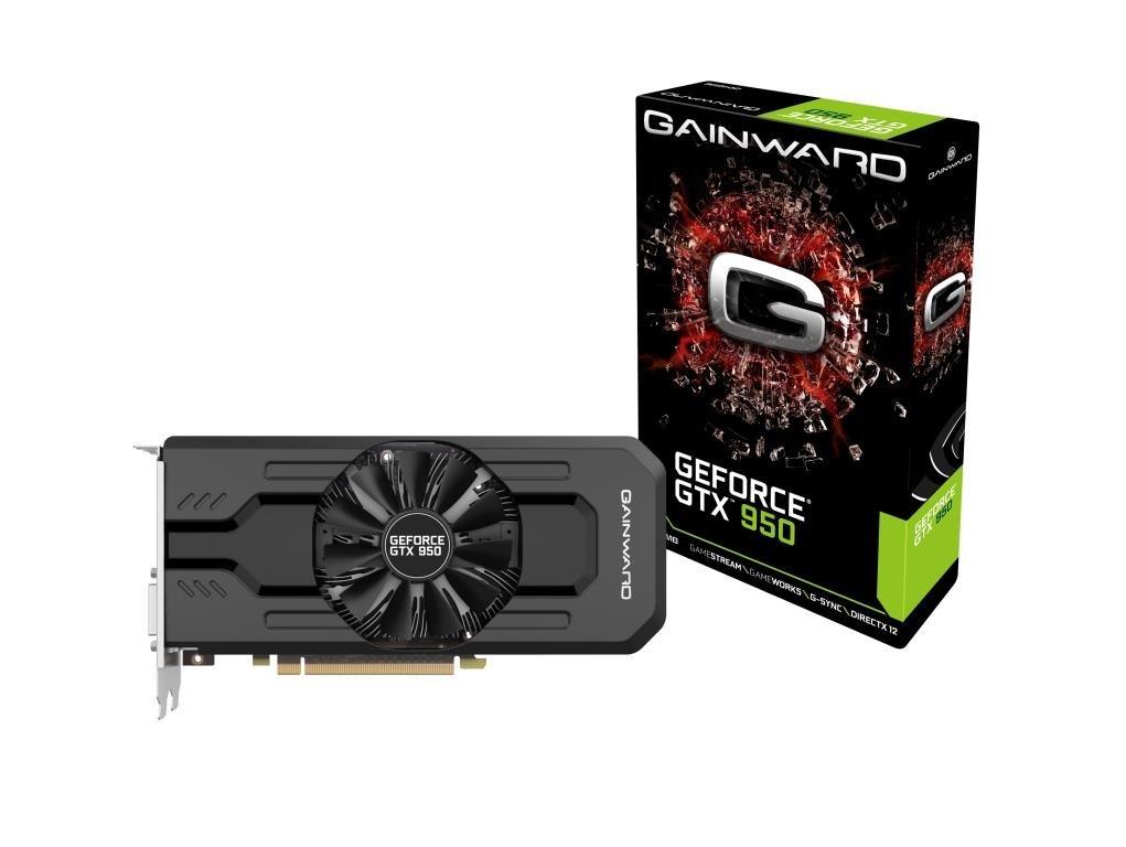 Gainward 426018336-3514 - Tarjeta gráfica (PCI-E GTX950 2048 MB DDR5, D-DVI/HDMI/DP Retail)