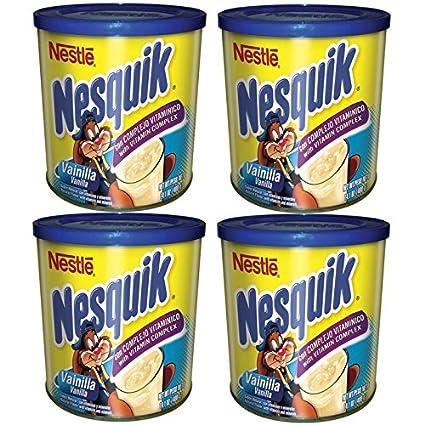 Amazon.com : Nesquik Vanilla Flavor 14.1 oz. Canister (Pack of 4) : Grocery & Gourmet Food