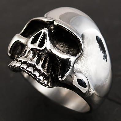 /Bague t/ête de mort pour homme en acier inoxydable 316L style Keith Richards couleur argent vieilli Fly style/®/