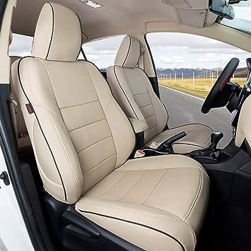 3-Row Model Black - Leatherette EKR Custom Fit Full Set Car Seat Covers for Select Toyota 4Runner 2011-2020