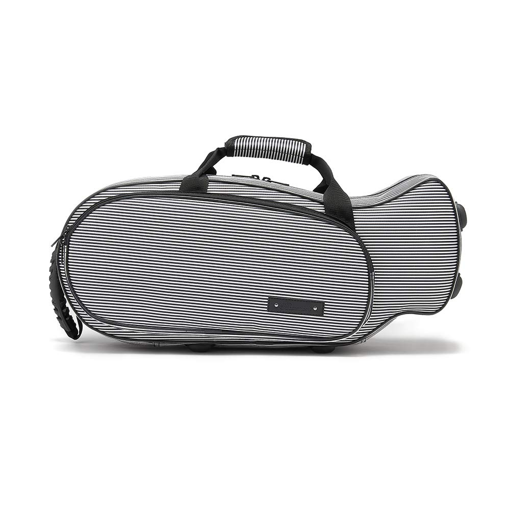 Beaumont Tru-fit Bb Trumpet Case – Universal Fit for a Range of Trumpets – Designed with 3D Scanning Technology - Racing Tweed BTCA-RT